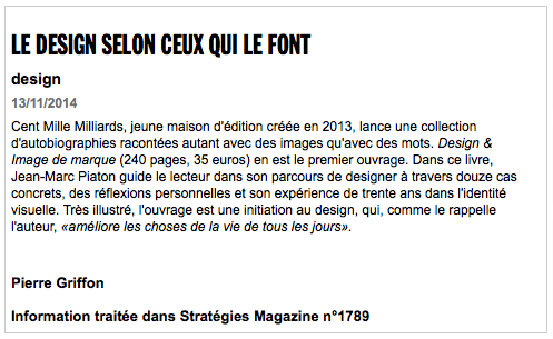 Article de Strategies